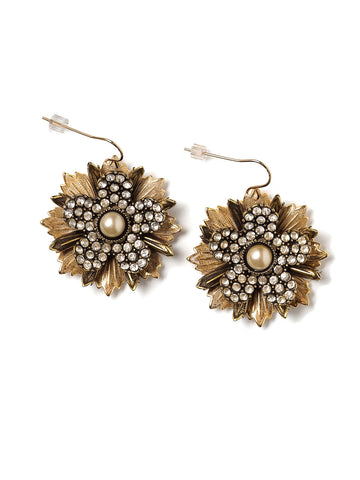 Amelie Rhinestone Flower Earrings #U05E
