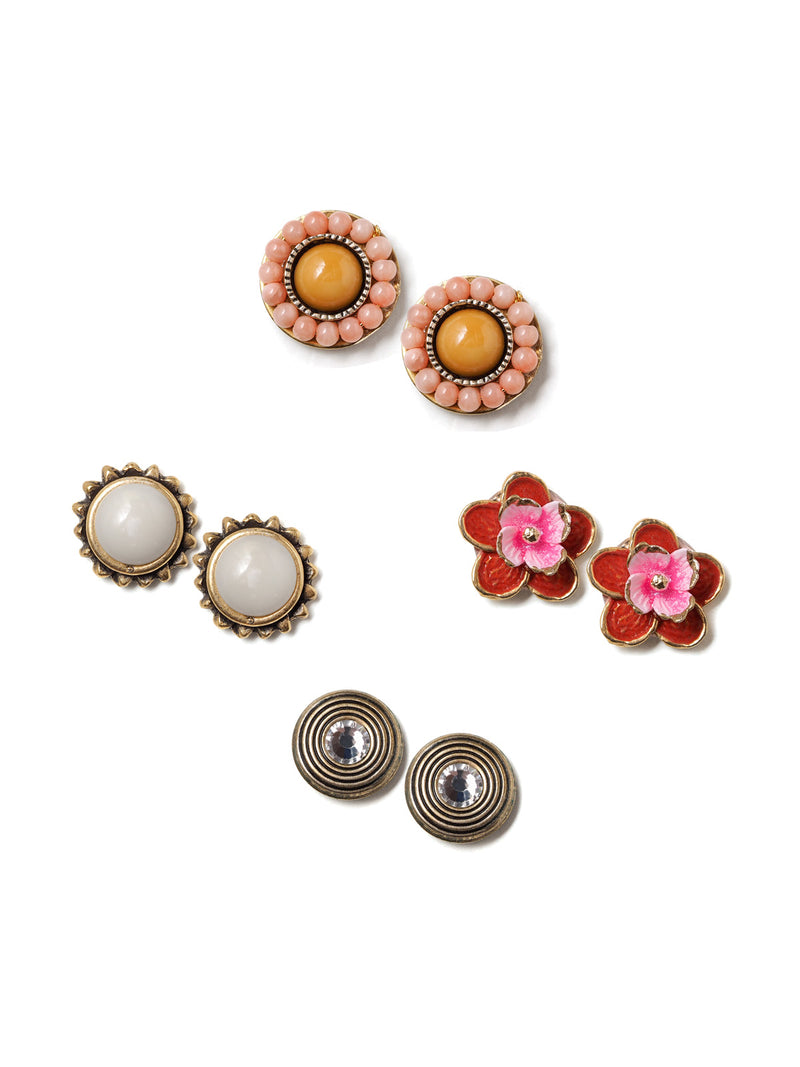 Marigold Stud Earring Set
