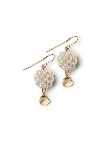Pearly Ball Earrings  #W15E