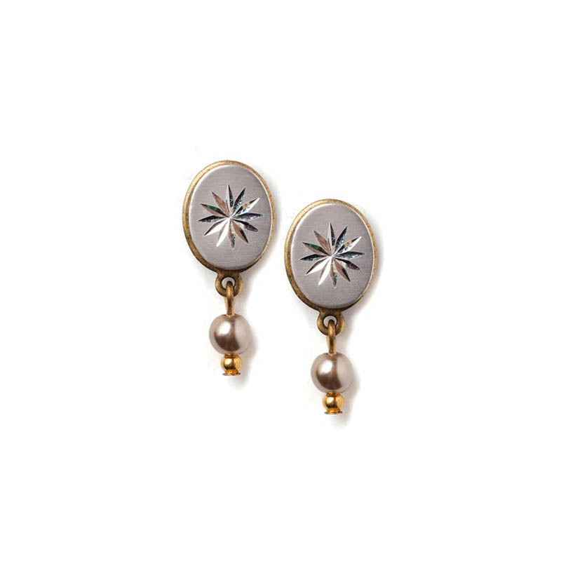 Pearl Drop Stud Earrings Stud Set