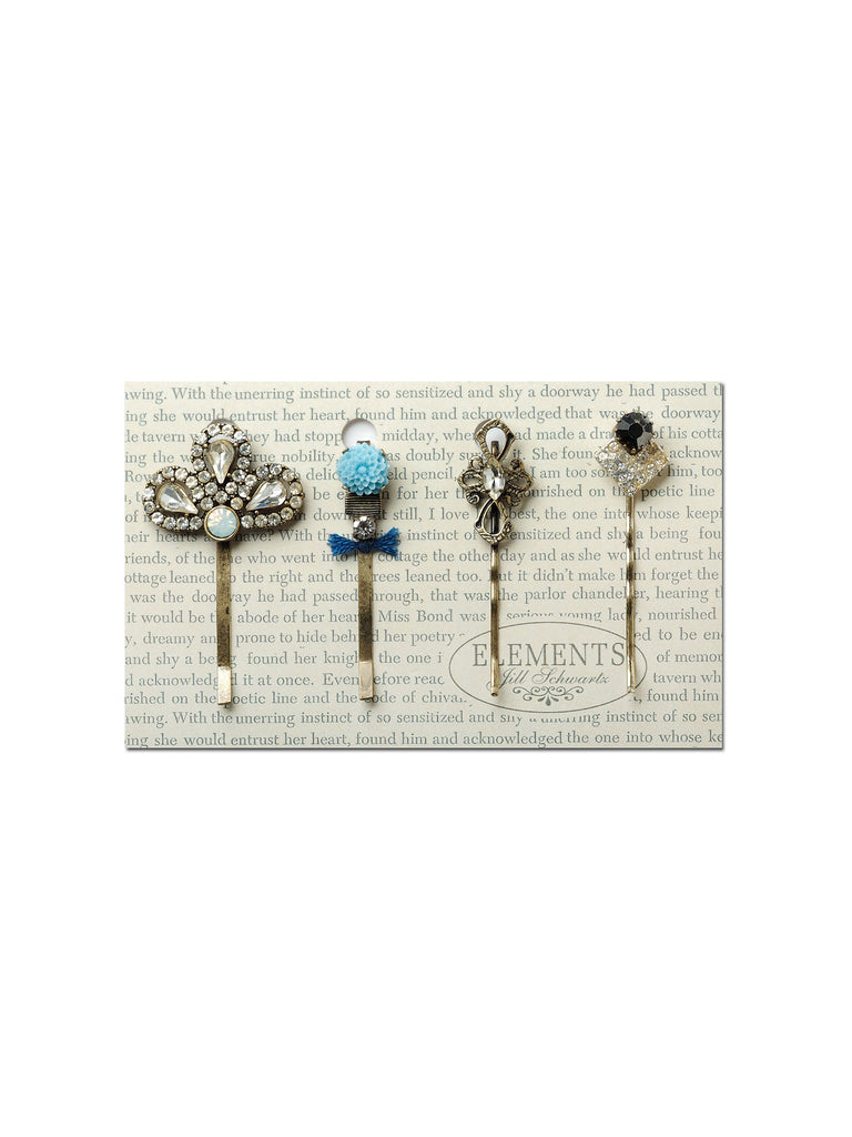 Vintage Sparkle Statement Hair Pin Set #HS12