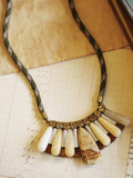 Fanning Stones Bib Necklace #X05N