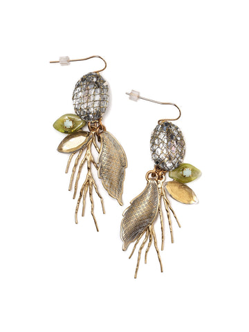 Golden Branch Earrings #Z23E