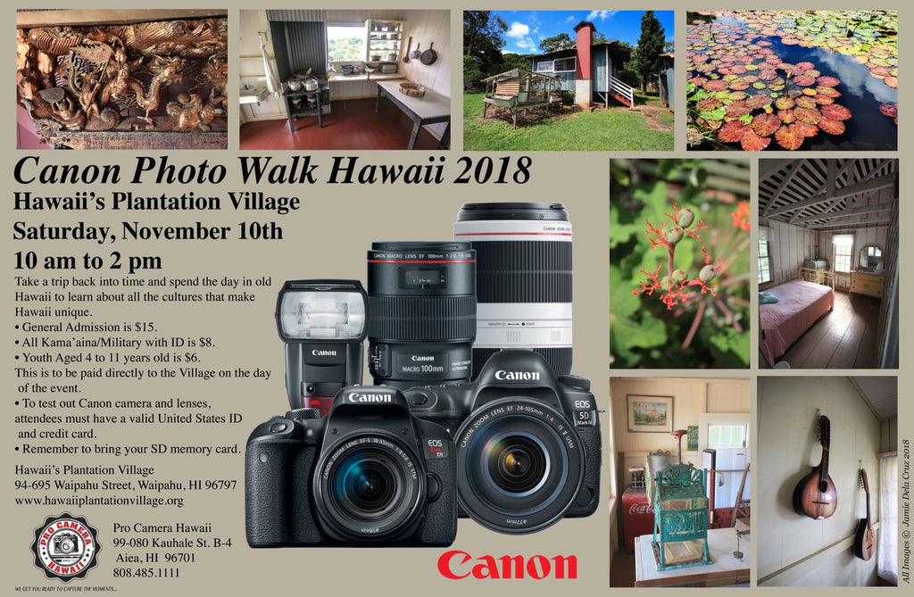 Canon Photo Walk Hawaii Saturday, November 10th