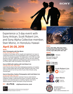 Sony Be Alpha Hawaii Event! April 26-28