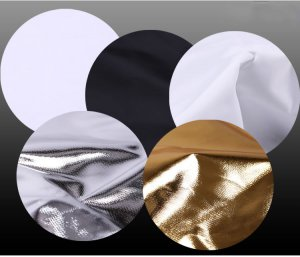 "GTX 44x66"" 5-in-1 Reflector (Translucent, White, Gold Sunlight, Silver)"