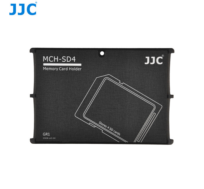 JJC Memory Card Holders fits 4 SD Cards (MCH-SD4GR)