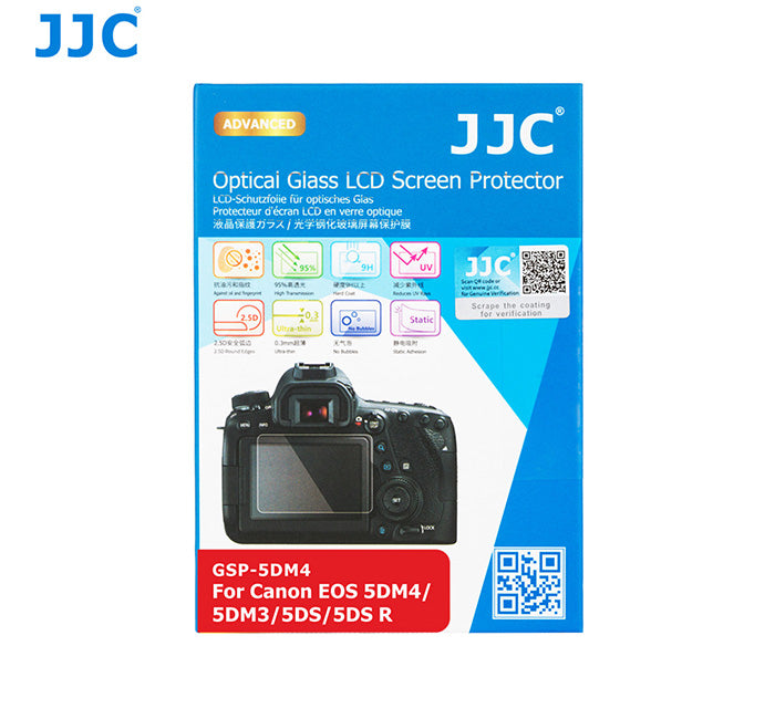 JJC Ultra-thin LCD Screen Protector for Canon EOS 5DM4, 5DM3, 5DS, 5DS R (GSP-5DM4)