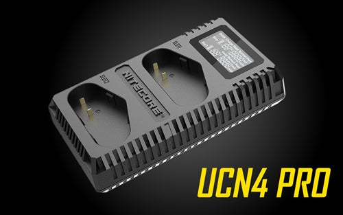 NITECORE UCN4 PRO DIGITAL USB CHARGER, FOR CANON LP-E4 & LP-E4N BATTERIES