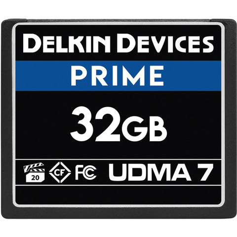 Delkin Devices 32GB Prime UDMA 7 CompactFlash Memory Card