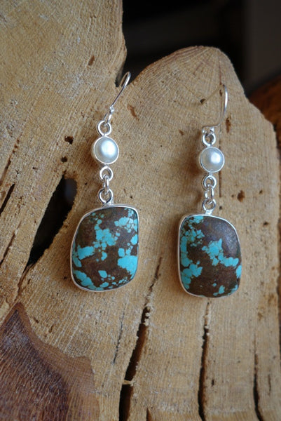 Sterling Silver with Natural Stone Earrings