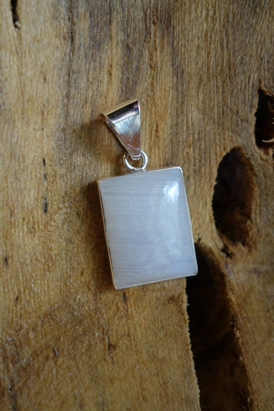 Sterling Silver with Natural Stone Pendant