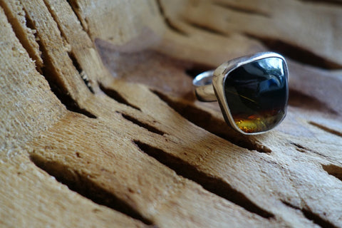 Size 6.5 Sterling Silver with Natural Stone Ring