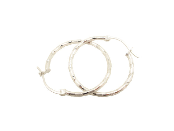 30mm Sterling Silver HOOP Earrings