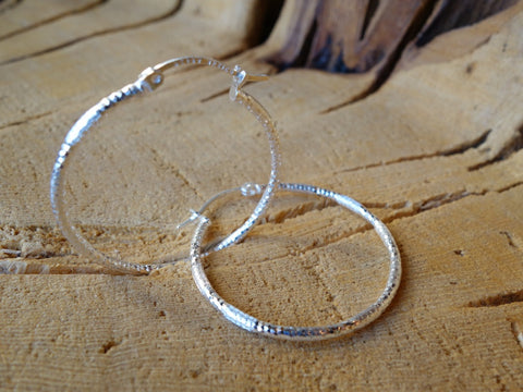33mm Sterling Silver HOOP Earrings