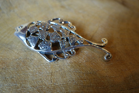 Handcrafted solid sterling .925 silver fish pendant from Taxco, Mexico