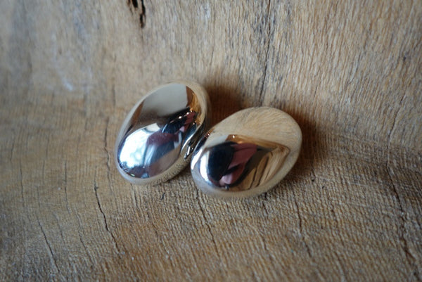 Handcrafted solid sterling .925 silver clip earrings from Taxco, Mexico