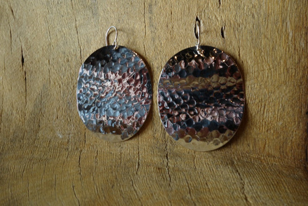 Handcrafted solid sterling .925 silver earrings from Taxco, Mexico