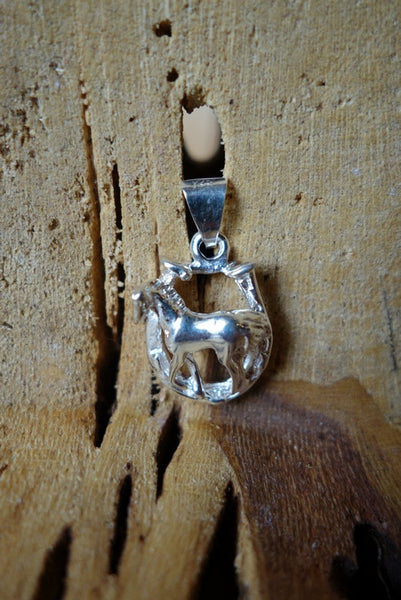 Handcrafted solid sterling .925 silver pendant from Taxco, Mexico