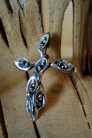 Handcrafted solid sterling .925 cross from Taxco, Mexico