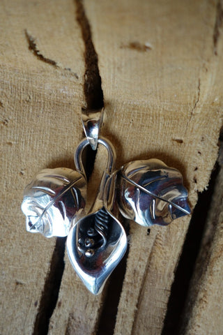 Handcrafted solid sterling .925 pendant from Taxco, Mexico