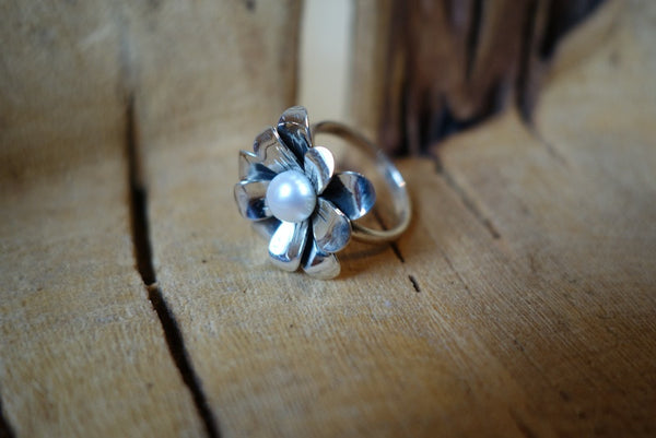 Handcrafted solid sterling .925 ring from Taxco, Mexico