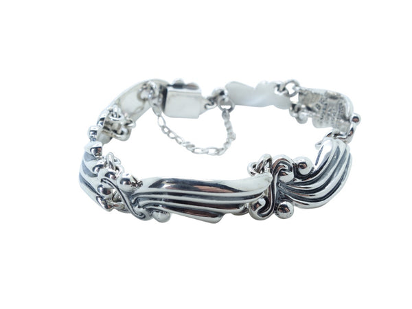 No Mas! William Spratling Design Solid 925 Silver Bracelet