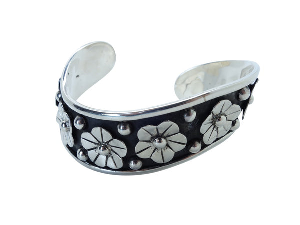 No Mas! 6.5cm CUFF with Floral Design