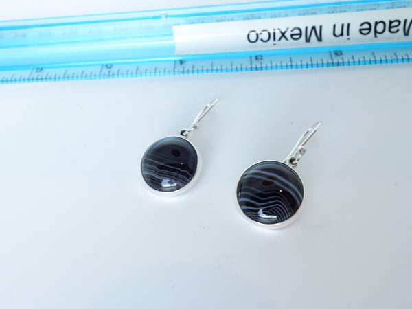 No Mas! Agate 925 Solid Silver Earrings