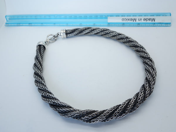 No Mas! Braided Rope chain rustic finish