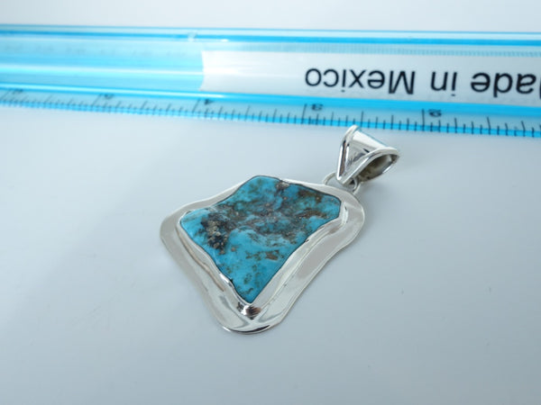 No Mas! 3.5cm Turquoise Solid 925 Silver Pendant