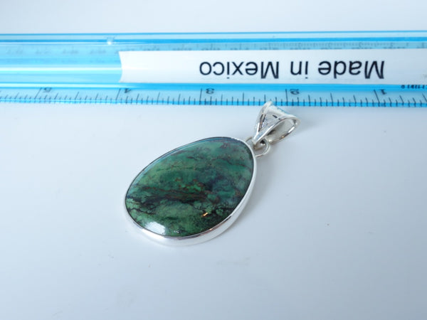 No Mas! 4cm Turquoisel Solid 925 Silver Pendant