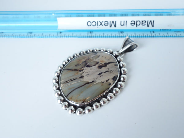 No Mas! 6cm Turquoise Solid 925 Silver Pendant