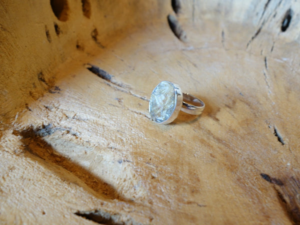 No Mas! Size 7 Rutilated Quartz in 925 Solid Silver Ring