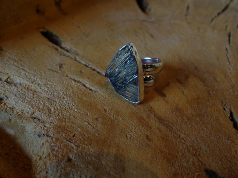 No Mas! Size 7.5 Rutilated Quartz 925 Solid Silver Ring
