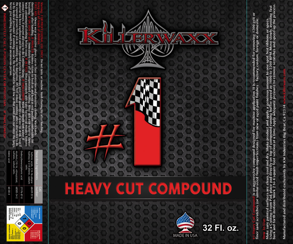 Paint Shop Safe-#1 HEAVY CUT COMPOUND
