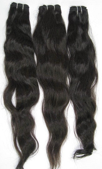 King Straight-Wavy Wefts - Virgin Indian Hair