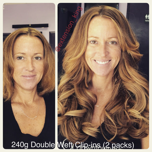 Custom Clip-ins Double Weft