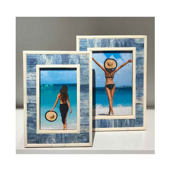 Carved Blue Bone Frames