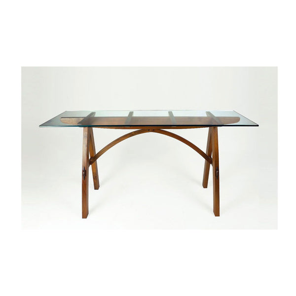 Kurva Glass Top Modern Console