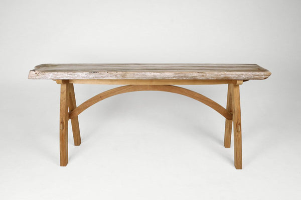 Petrified Wood Top Kurva Console