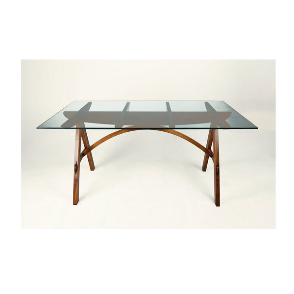 Kurva Glass Top Dining Table