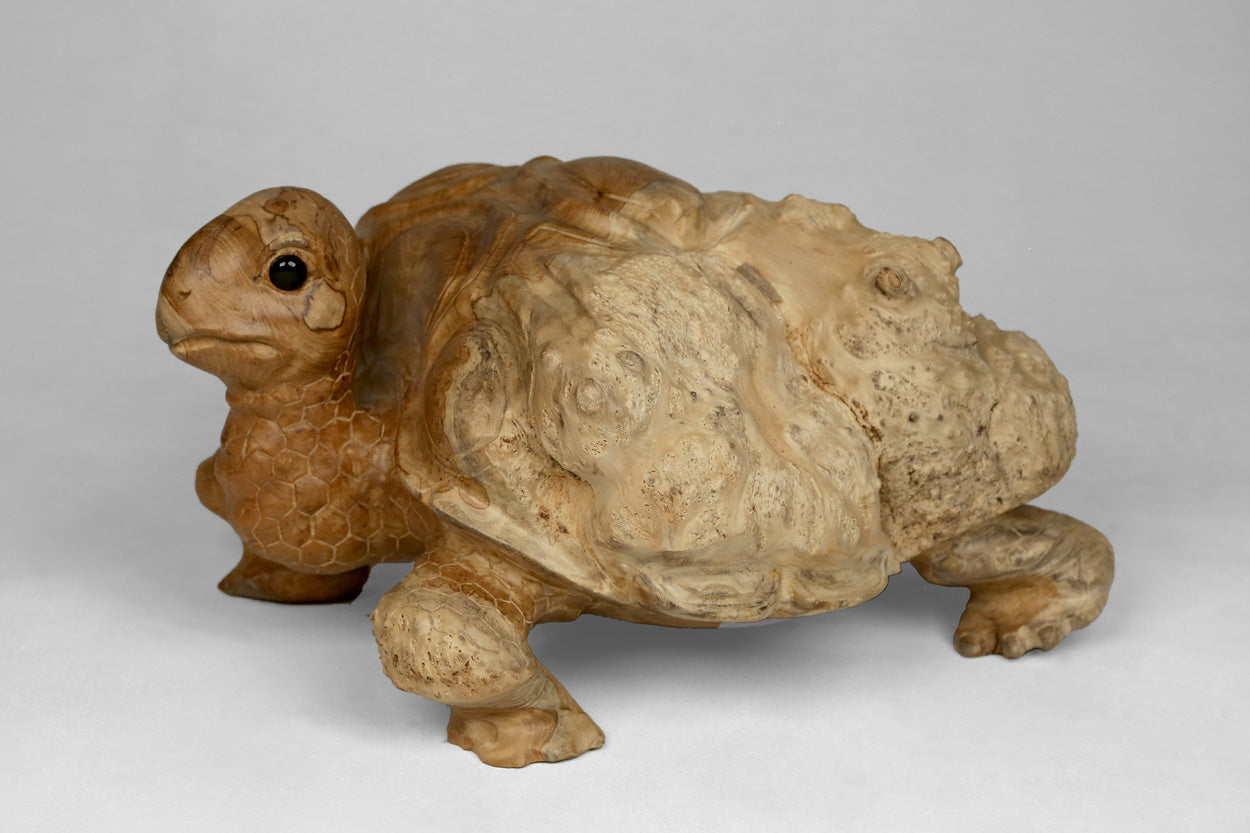 Teak Turtle Sculpture I