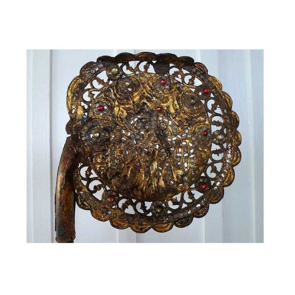 Antique Thai Monks Cerimonial Fan