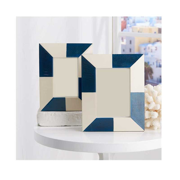 Blue & White Color Block Frame