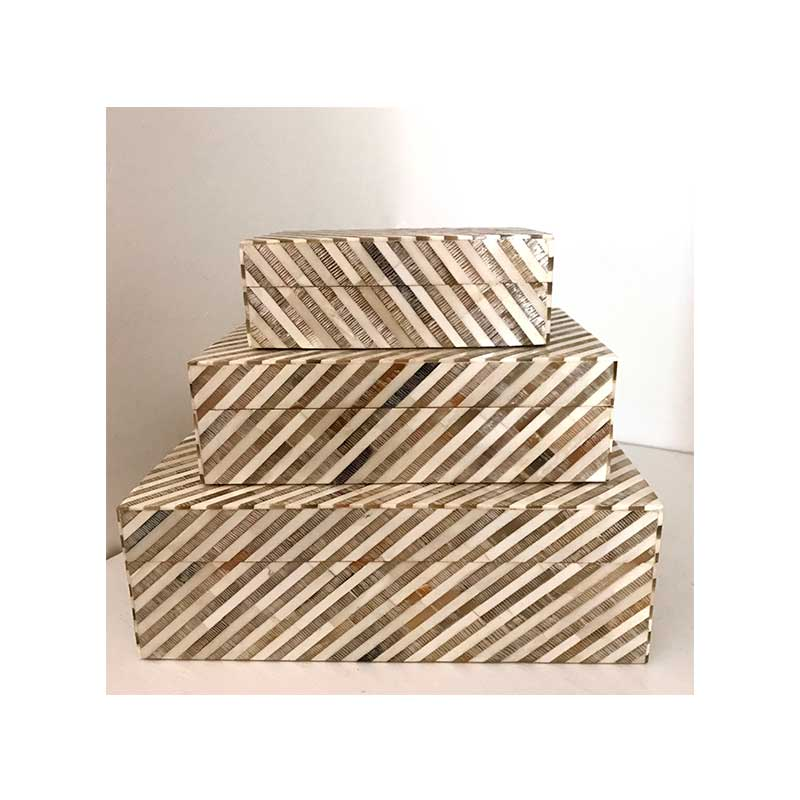 Striped Bone & Horn Boxes