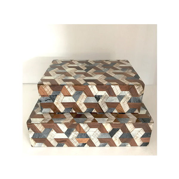 Multi Pattern Horn & Wood Box Collection