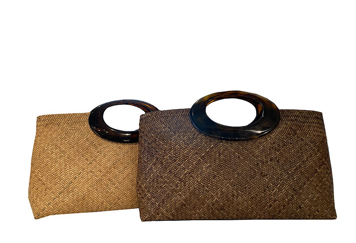 Oblong Rattan Bag (Small Round Handle)