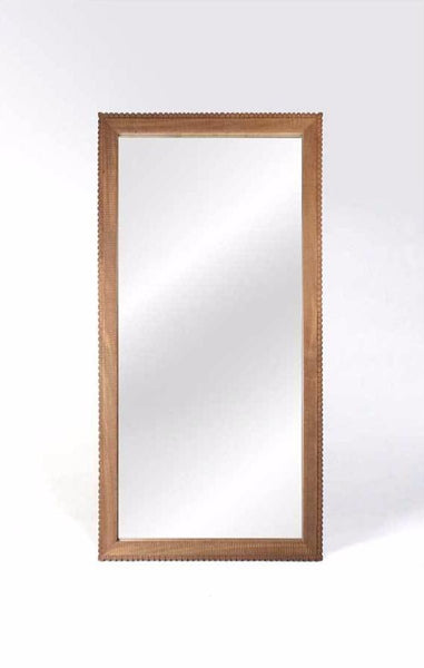 Kadek Carved Teak Floor Mirror