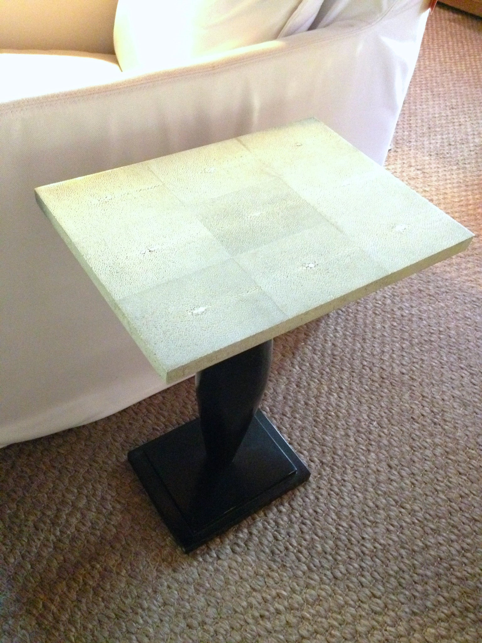 Green Shagreen Side table